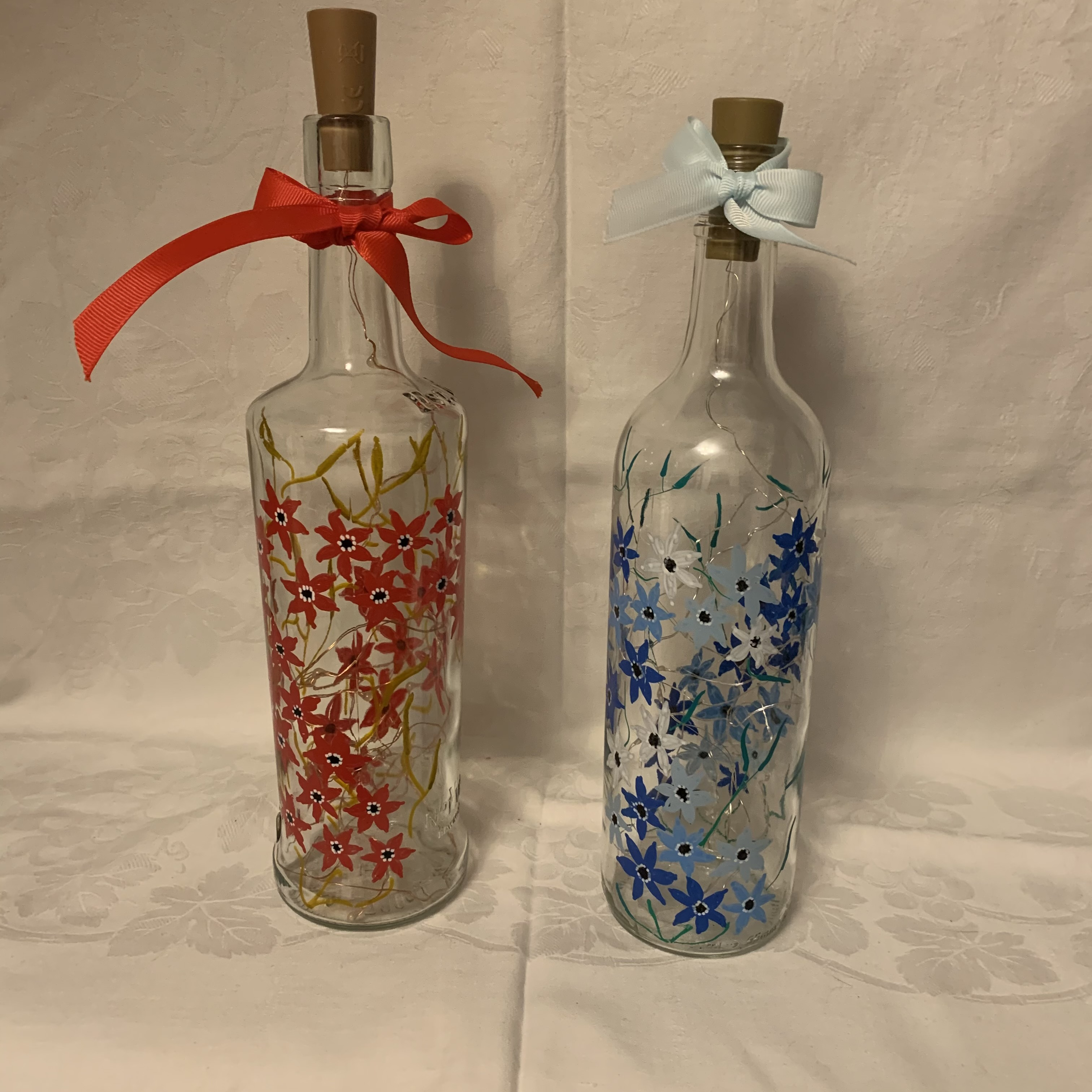 Bottle Hand Painted Flowers3 B