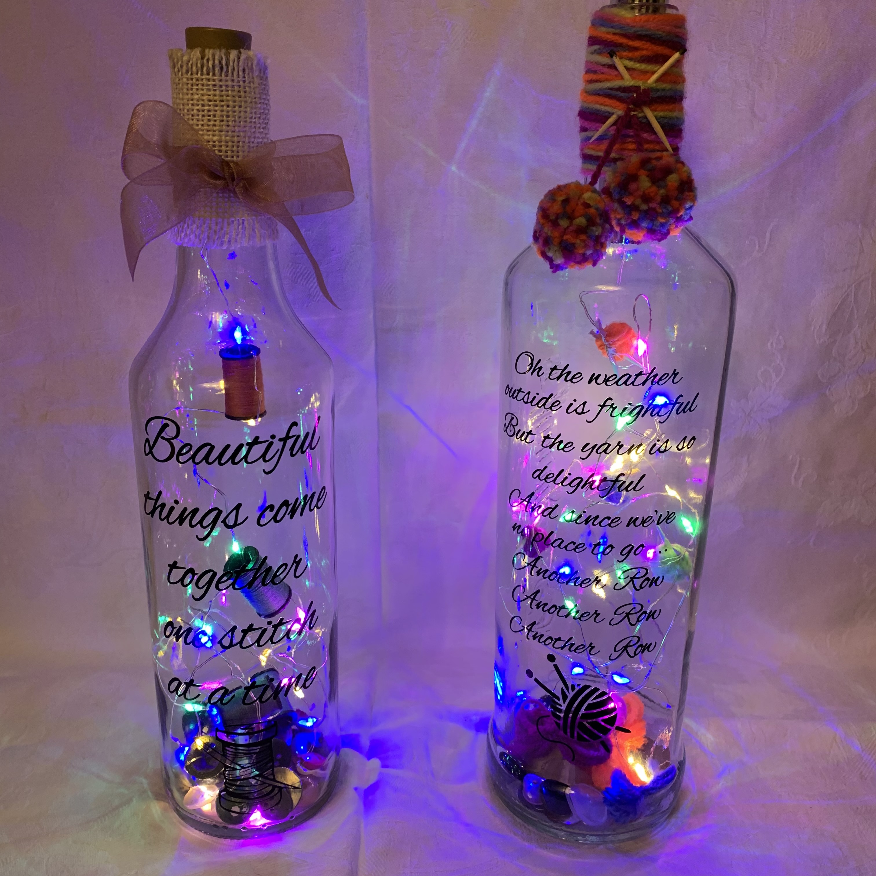 Bottle Knitting and Sewing A £8 each