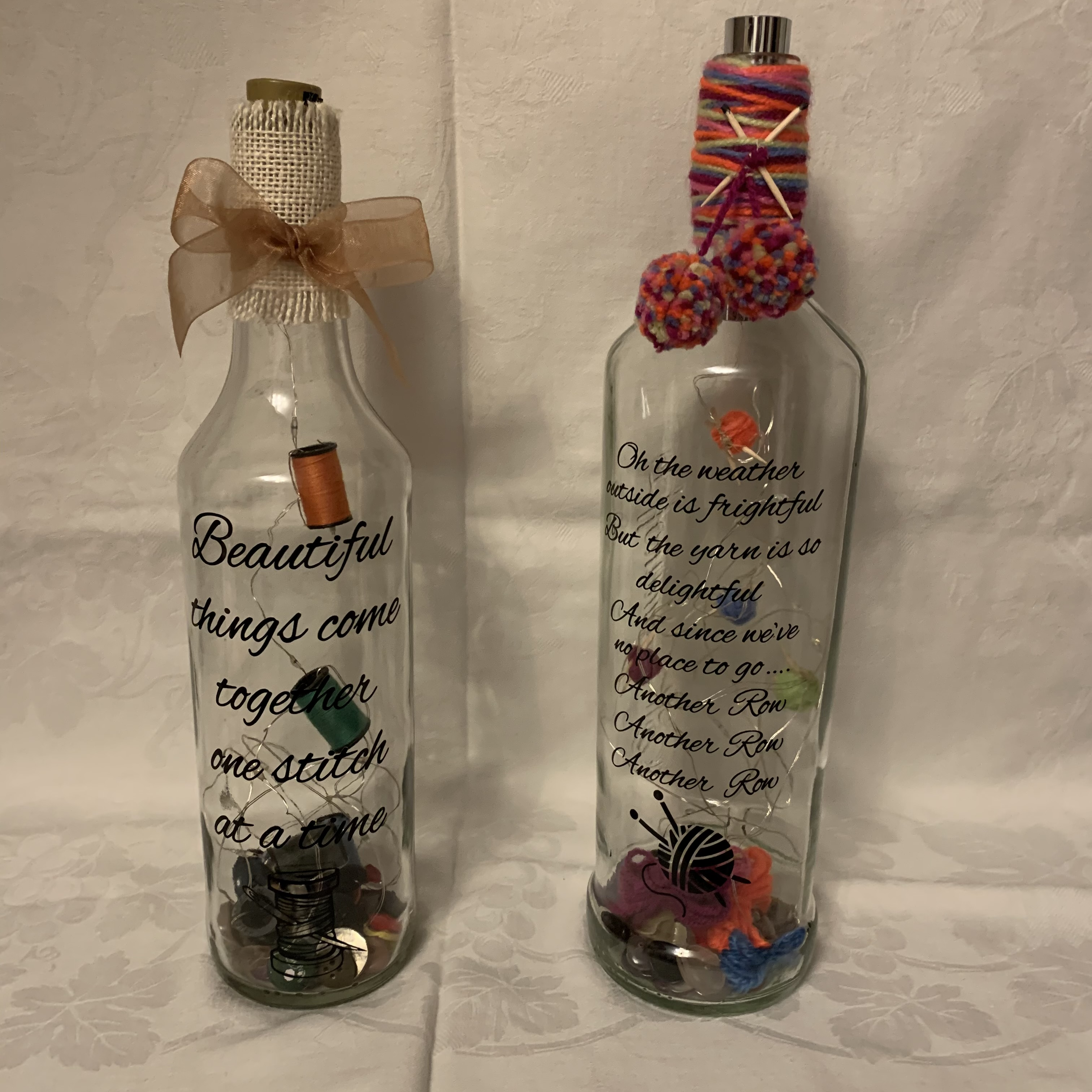 Bottle Knitting and Sewing B